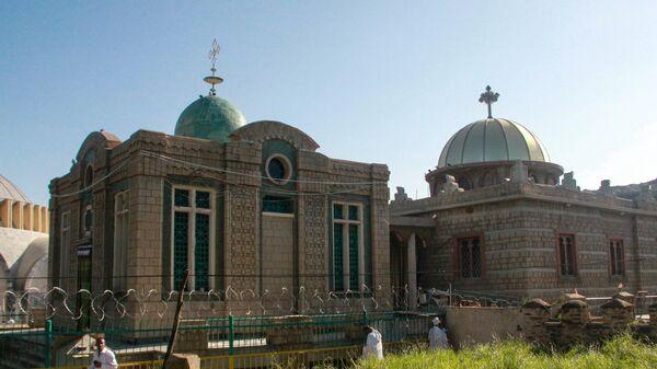 Храм в Аксуме, где хранится Ковчег Завета. Эфиопия