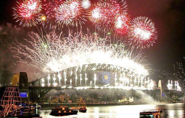 Новогодний фейерверк в Сиднее