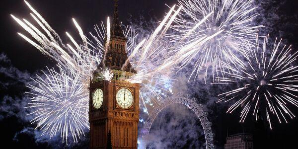 Новогодний фейерверк в Лондоне