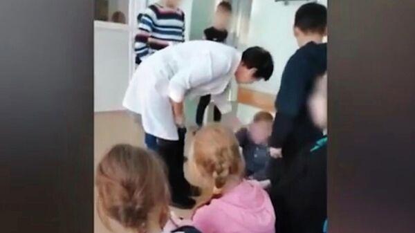 Стоп-кадр видеозаписи, сделанной в противотуберкулезном санатории Пионерская речка