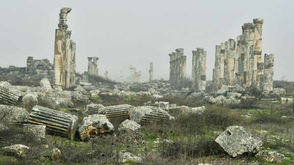 Руины древнего города Афамия