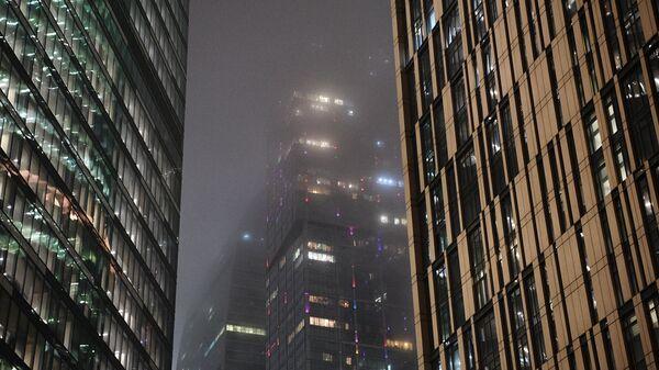 Вид на здания московского международного делового центра Москва-Сити