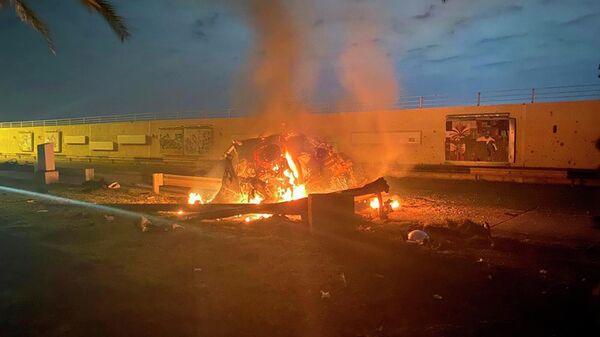 Последствия удара в Багдаде, в ходе которого погиб генерал Касем Сулеймани
