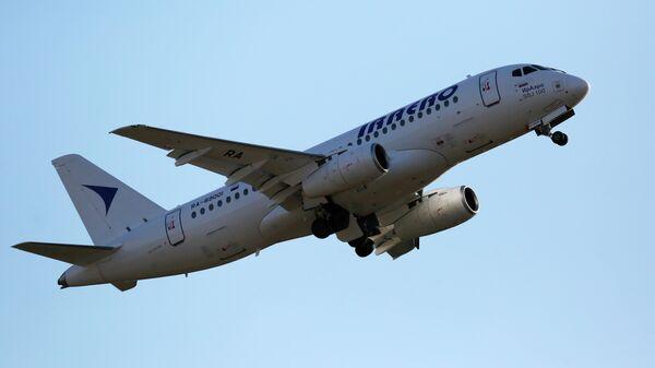 Пассажирский самолет Сухой Суперджет-100 авиакомпании ИрАэро