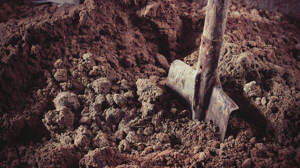 Лопата в песке