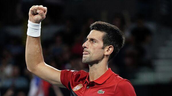 Сербский теннисист Новак Джокович на Кубке ATP в Австралии