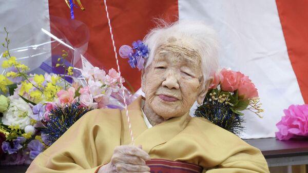 Японская долгожительница Канэ Танака. 5 января 2020