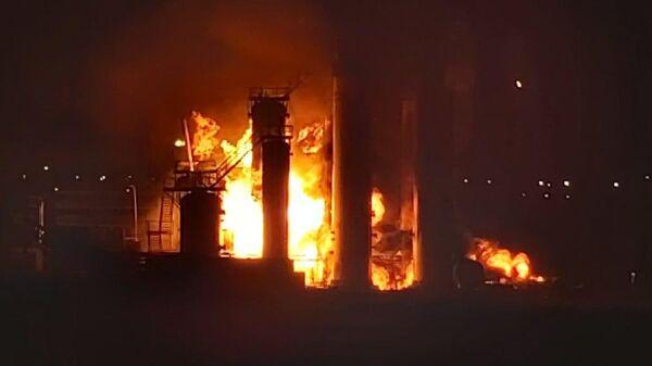 Пожар на территории Нефтеперерабатывающего завода ООО ЛУКОЙЛ-Ухтанефетпереработка