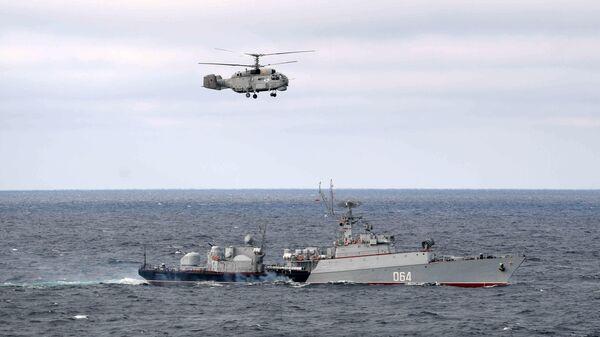 МПК Муромец Черноморского флота во время совместных учений Северного и Черноморского флотов в Черном море