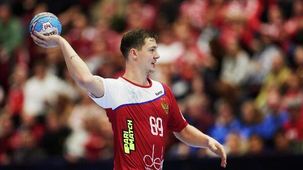 Игрок сборной России по гандболу Дмитрий Житников