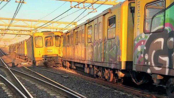 Столкновение поездов метро в Неаполе. 14 января 2020