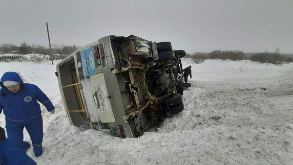 Последствия ДТП на 5 километре автодороги Кузовлево-Светлый