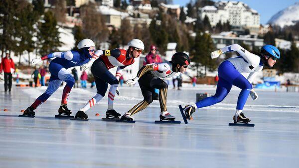 Конькобежец Александр Сергеев на Юношеских Олимпийских Играх в Лозанне