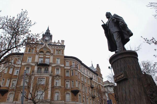 Открытие памятника Владимиру Шухову в Москве