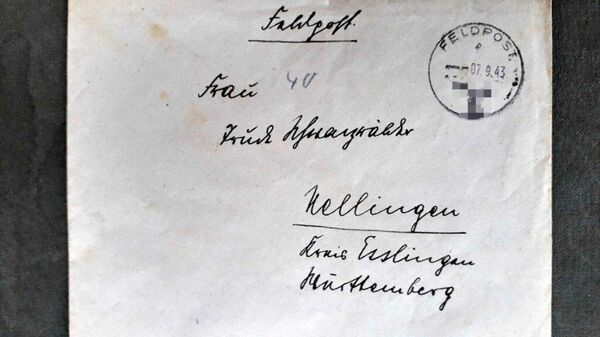 Немецкое письмо 1943 года, найденное на чердаке старого дома в Эммаусе, Тверская область