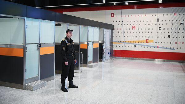Зона паспортного контроля в новом международном терминале С в аэропорту Шереметьево