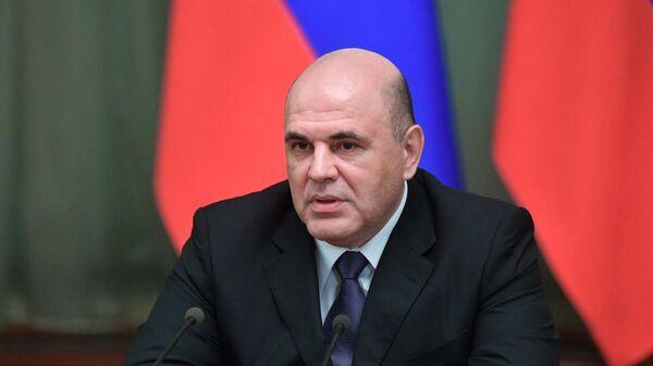 Председатель правительства РФ Михаил Мишустин во время встречи с членами российского правительства