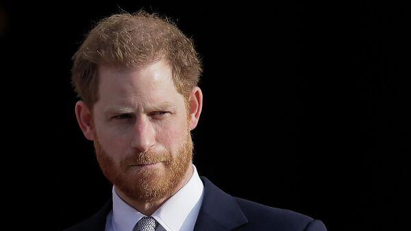 Британский принц Гарри в Букингемском дворце в Лондоне