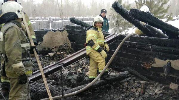 Пожар в доме в Томской области