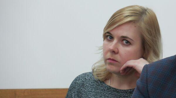 Марина Мартемьянова в зале Белоярского районного суда