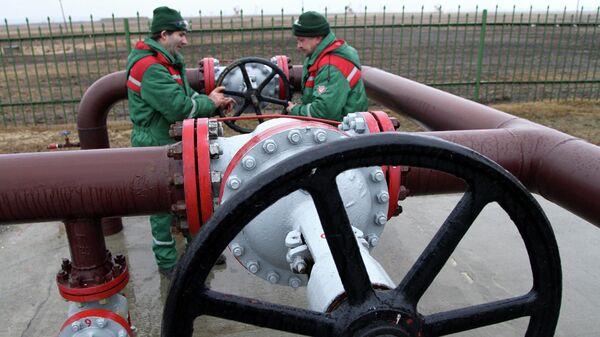 Распределительный пункт нефтепровода в Белоруссии