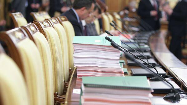 В Доме правительства РФ перед началом заседания