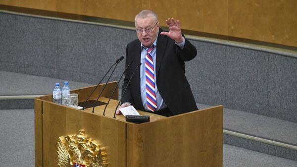 Владимир Жириновский выступает на пленарном заседании Государственной Думы РФ. 23 января 2020