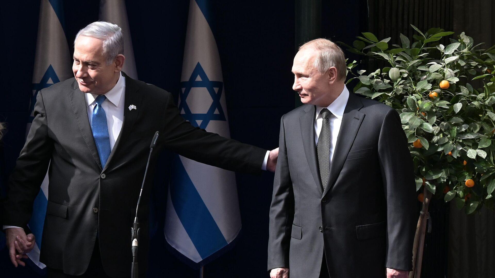 Президент РФ Владимир Путин и премьер-министр Израиля Биньямин Нетаньяху - РИА Новости, 1920, 30.01.2020
