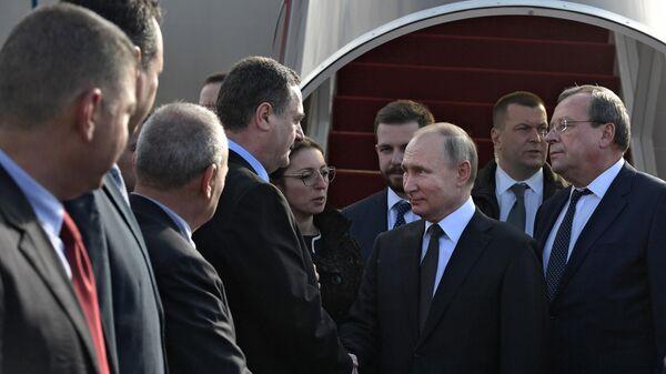 Президент РФ Владимир Путин во время встречи в аэропорту им. Давида Бен-Гуриона