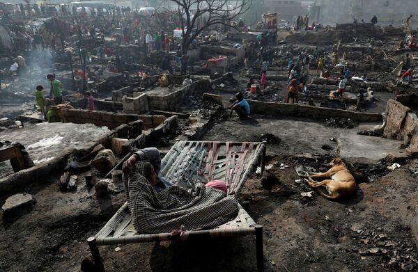 Последствия пожара в Карачи, Пакистан