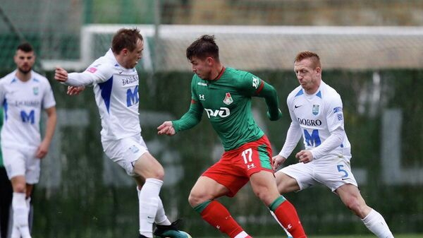 Игровой момент матча Локомотив - Осиек