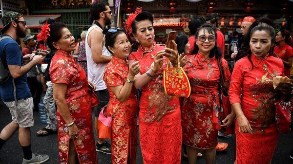 Празднование Нового года по лунному календарю в Бангкоке, Тайланд
