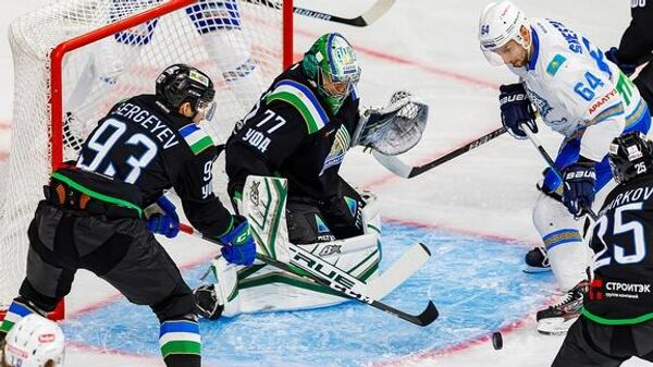 Салават Юлаев - Барыс в матче регулярного чемпионата КХЛ