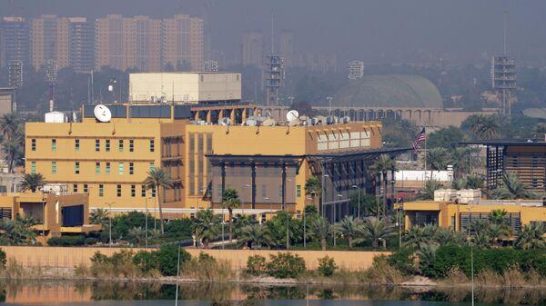 Общий вид посольства США в Зеленой зоне в Багдаде