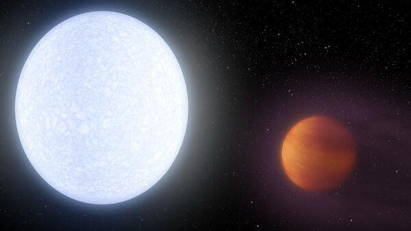 Художественное изображение экзопланеты KELT-9b – самого известного горячего Юпитера
