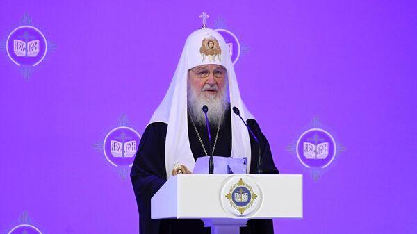 Патриарх Московский и всея Руси Кирилл на торжественном открытии XXVIII Международных Рождественских чтений