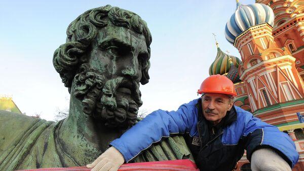 Обследование памятника Минину и Пожарскому