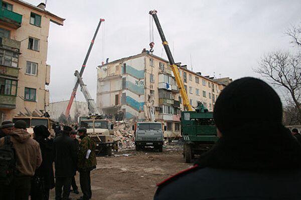 Место взрыва жилого дома в Евпатории