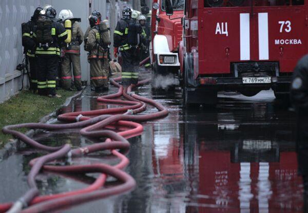 Ликвидирован пожар на складе бывшего Черкизовского рынка в Москве