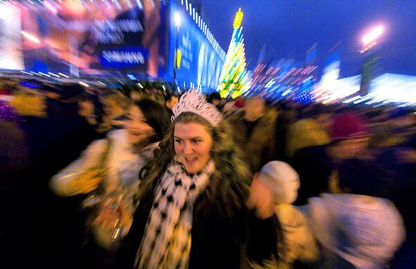 Встреча Нового Года-2009 в центре столицы