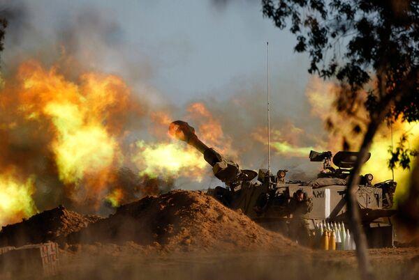 В Газе