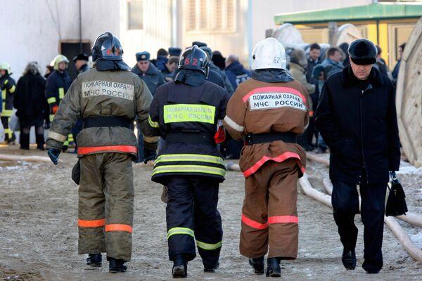 Пожар произошел в гимназии в Ростовской области