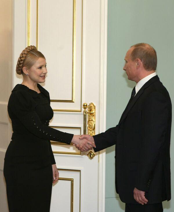 Встреча премьер-министров России и Украины Владимира Путина и Юлии Тимошенко