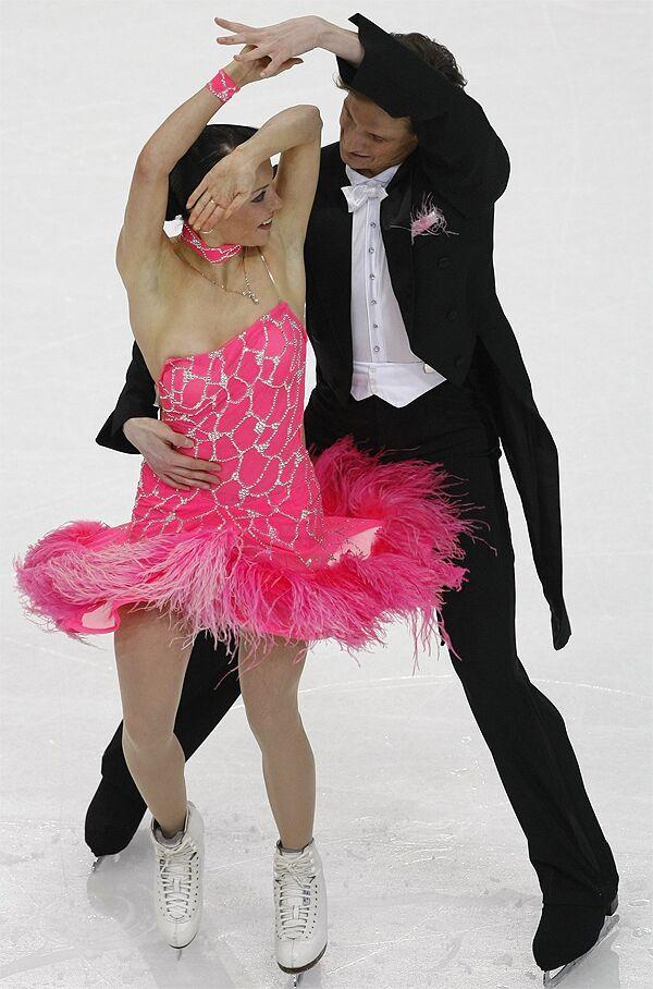 Екатерина Рублева и Иван Шефер на чемпионате Европы по фигурному катанию