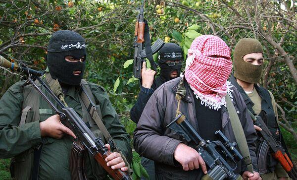 Палестинские боевики в секторе Газа. Архивное фото