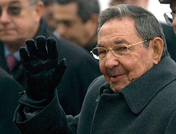 Рауль Кастро прибыл с официальным визитом в РФ