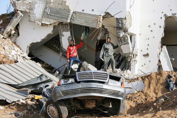 После вывода израильских войск из Сектора Газа. Архив