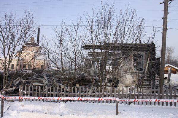 На месте пожара в доме-интернате в Коми
