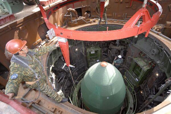 Подготовка к запуску конверсионной ракеты РС-20 Днепр