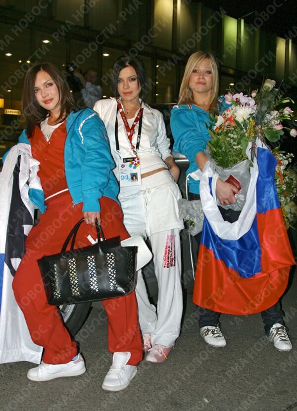 Группа Серебро вернулась в Москву из Хельсинки